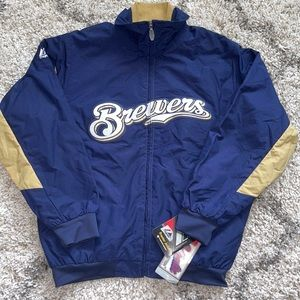 Majestic Milwaukee Brewers Premier Youth Jacket